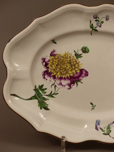 Porcelain & Faience  - French faience of Strasbourg -  Platter by Paul Hannong, circa 1752 - 1760