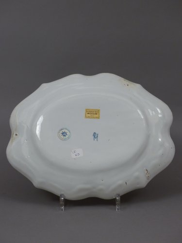 French faience of Strasbourg -  Platter by Paul Hannong, circa 1752 - 1760 - Louis XV