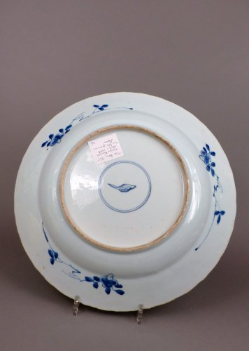 Chinese Kangxi blue and white porcelain platter, 17th century - Porcelain & Faience Style