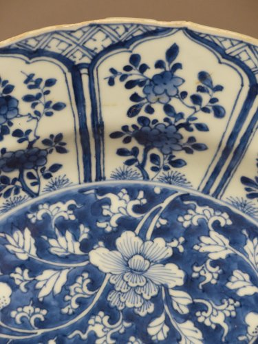 Antiquités - Chinese Kangxi blue and white porcelain platter, 17th century