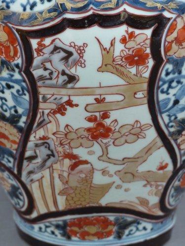 vase en porcelaine de chine mont en lampe 1ere partie du xviiie si cle. Black Bedroom Furniture Sets. Home Design Ideas