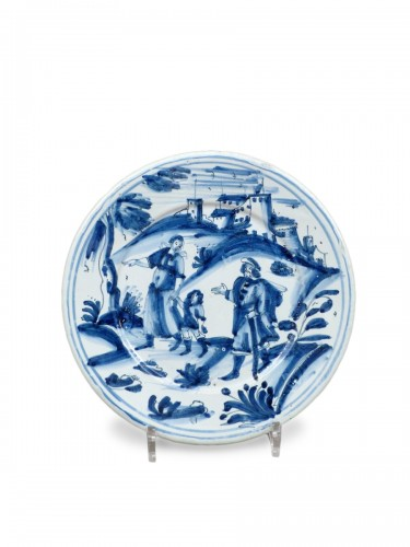 17th century faience platter of Nevers