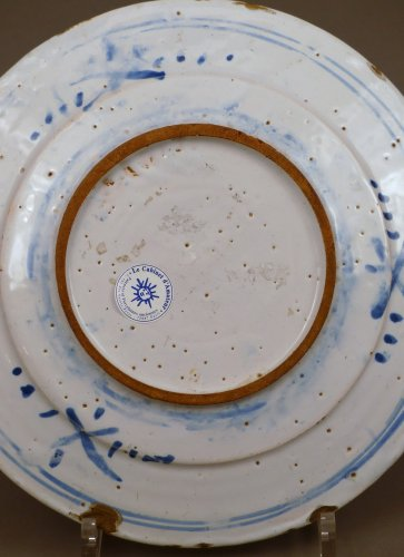 17th century faience platter of Nevers -