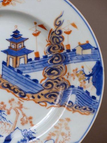 Japan 18th century - Imari style Porcelain plate - Porcelain & Faience Style