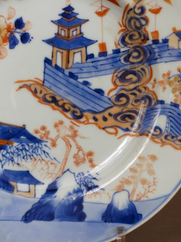 Porcelain & Faience  - Japan 18th century - Imari style Porcelain plate