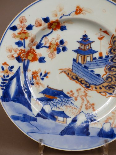 Japan 18th century - Imari style Porcelain plate -