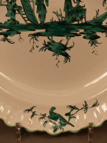 Porcelain & Faience  - French Moustiers platter - Ferrat Factory circa 1780