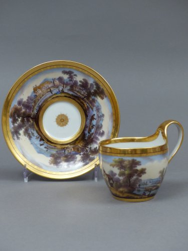 Porcelain & Faience  - Berlin porcelain cup and saucer, late 18th century