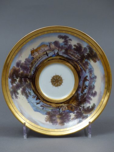 Berlin porcelain cup and saucer, late 18th century -