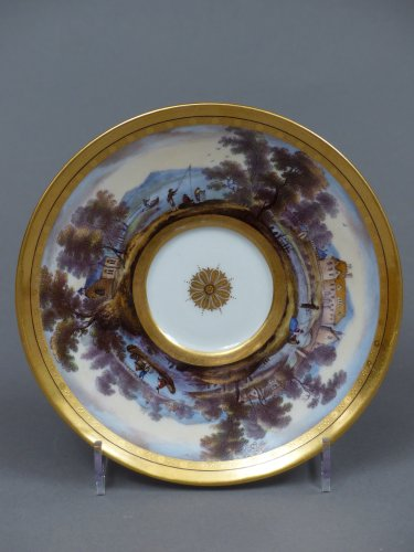 Louis XVI - Berlin porcelain cup and saucer, late 18th century