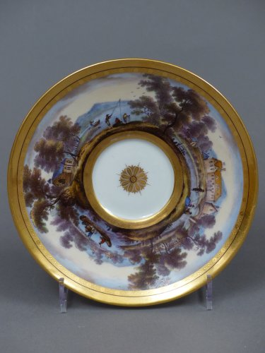 Antiquités - Berlin porcelain cup and saucer, late 18th century