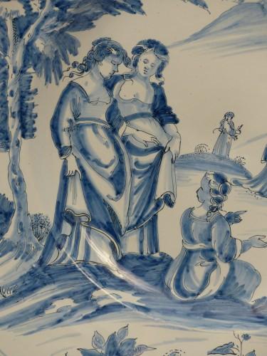 "Porcelain & Faience  - Large dish of Nevers ""istoriati"" mid-17th century"