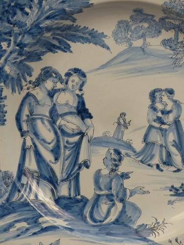 "Large dish of Nevers ""istoriati"" mid-17th century -"