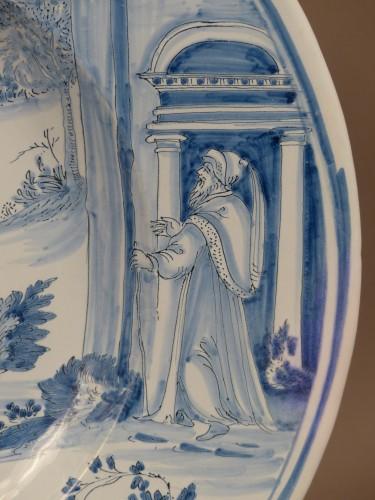 "17th century - Large dish of Nevers ""istoriati"" mid-17th century"