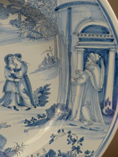 "Large dish of Nevers ""istoriati"" mid-17th century - Louis XIV"