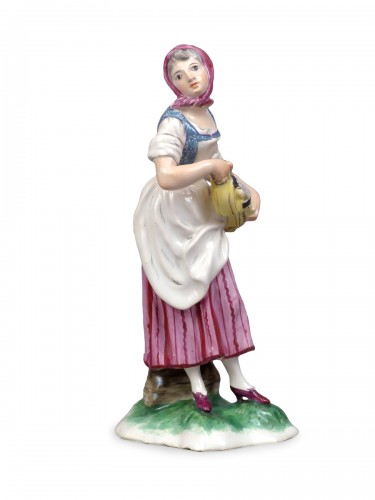 Faience of Niderviller 18th century - Player of hurdy-gurdy