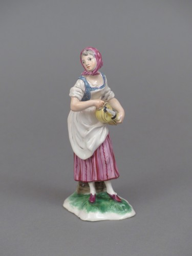 Faience of Niderviller 18th century - Player of hurdy-gurdy -