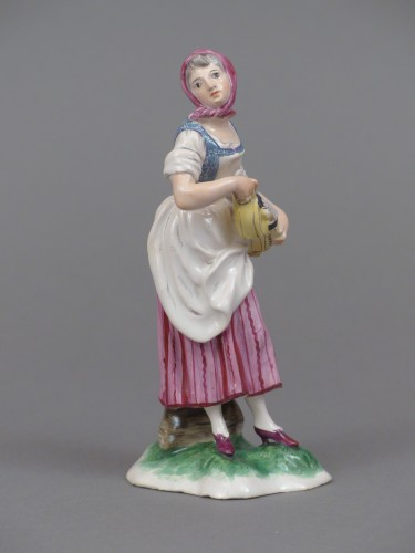 Louis XV - Faience of Niderviller 18th century - Player of hurdy-gurdy