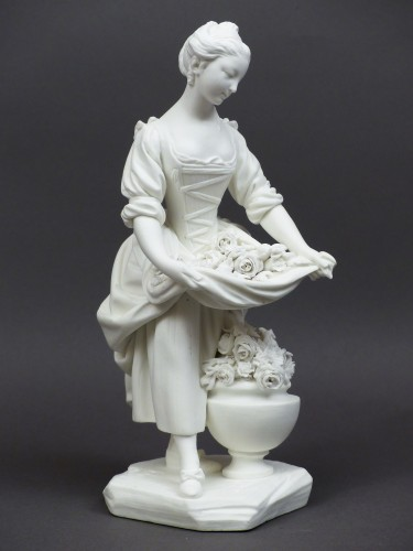Soft-paste porcelain biscuit, Sèvres 18th century - The vase gardener - Louis XV