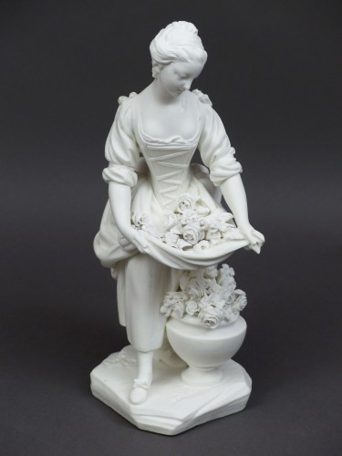 Antiquités - Soft-paste porcelain biscuit, Sèvres 18th century - The vase gardener