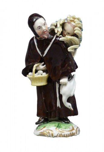 18th Century Frankenthal Porcelain Monk figure