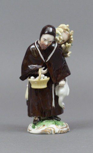 18th Century Frankenthal Porcelain Monk figure - Porcelain & Faience Style Louis XV