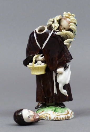 Porcelain & Faience  - 18th Century Frankenthal Porcelain Monk figure