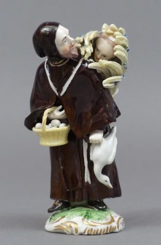 18th century - 18th Century Frankenthal Porcelain Monk figure