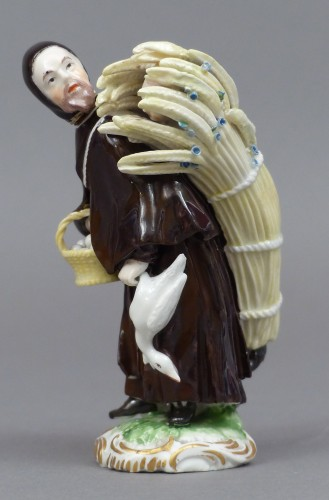 18th Century Frankenthal Porcelain Monk figure - Louis XV