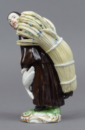 Louis XV - 18th Century Frankenthal Porcelain Monk figure