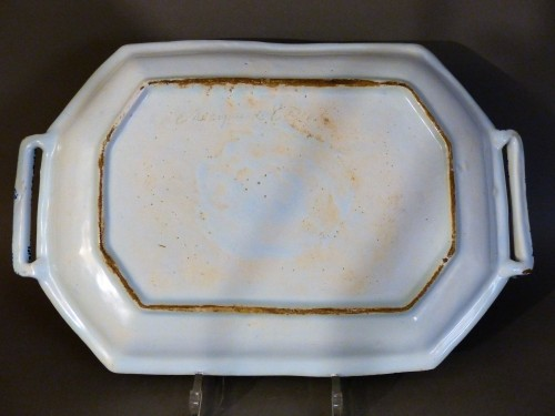 Faïence dish from Rouen 1st half of the 18th century - French Regence