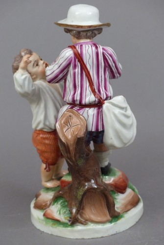 18th century - 18th century Niderviller's porcelain group