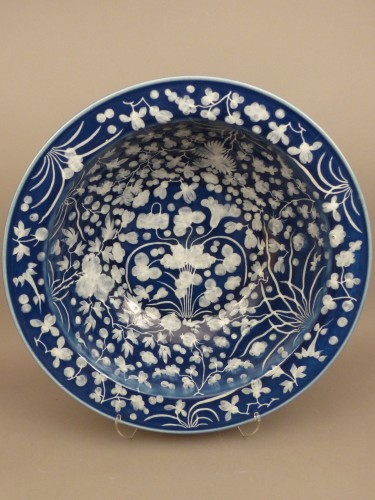 - A large Chinese porcelain basin from the late 17th century