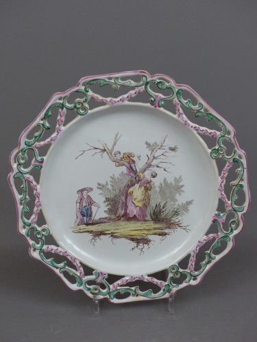 """Pair of Marseille earthenware dishes, """"Veuve Perrin"""" factory 18th century -"""