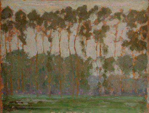 Poplars - E. Phillips Fox (1865-1915)