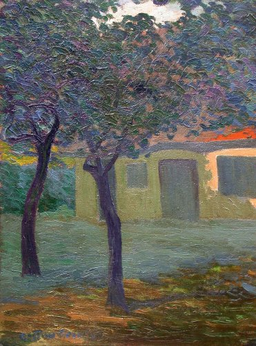 Paintings & Drawings  - Normandy Farmhouse - Gaston Gosselin (1882-1913)