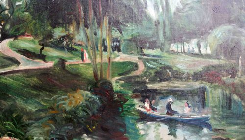 Buttes Chaumont park -  Lucien Adrion (1889-1953) - Paintings & Drawings Style