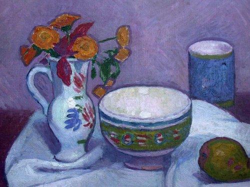 Paintings & Drawings  - Still life - Manuel Ortiz de Zarate (1887-1946)