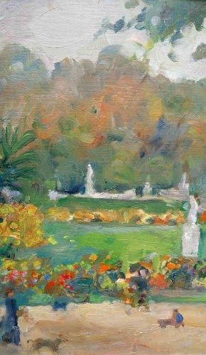 Garden of Luxembourg - Nikolaj Milioti (1872-1962) - Paintings & Drawings Style Art Déco