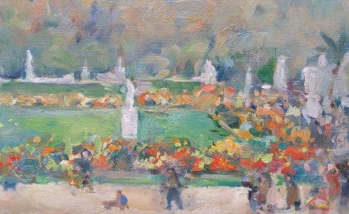 Paintings & Drawings  - Garden of Luxembourg - Nikolaj Milioti (1872-1962)