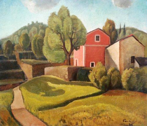 Italian Landscape - Enrico PAULUCCI (1901-1999)