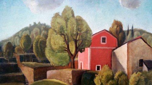 Italian Landscape - Enrico PAULUCCI (1901-1999) - Paintings & Drawings Style Art Déco