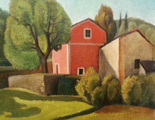 Paintings & Drawings  - Italian Landscape - Enrico PAULUCCI (1901-1999)