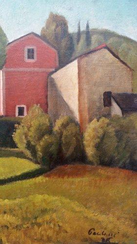 Italian Landscape - Enrico PAULUCCI (1901-1999) -