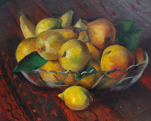 A fruits cup - Maurice BRIANCHON (1899-1979)  - Paintings & Drawings Style Art Déco
