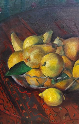 Paintings & Drawings  - A fruits cup - Maurice BRIANCHON (1899-1979)