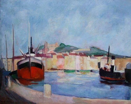 Harbour by Edy LEGRAND (1892-1970) - Mediterranean port