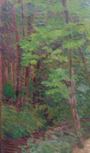 Paintings & Drawings  - Undergrowth on Mantes - Louis HAYET (1864-1940)