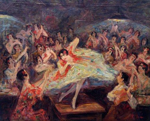 Bailar flamenco - Pere YSERN Y ALIÉ (1875-1946)