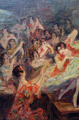 Paintings & Drawings  - Bailar flamenco - Pere YSERN Y ALIÉ (1875-1946)